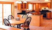 Typical dining/kitchen area.
